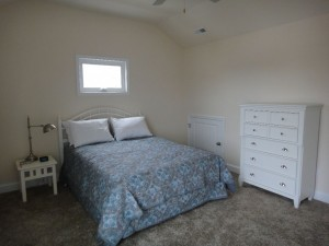 Master bedroom on second floor (queen)