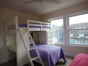 Bedroom with twin bunk and twin bed